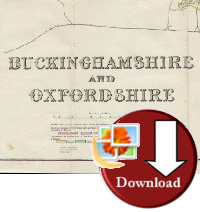 Buckinghamshire & Oxfordshire Map 1920 (Digital Download)