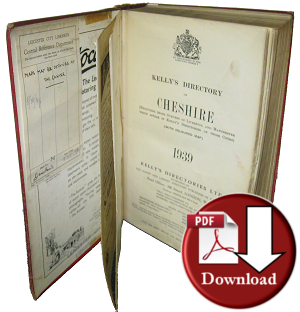 Kelly's Directory Of Cheshire, 1939 (Digital Download)