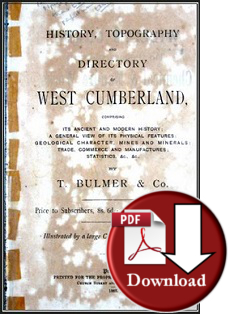 Bulmer History, Topography and Directory of West Cumberland 1883 (Digital - Download)