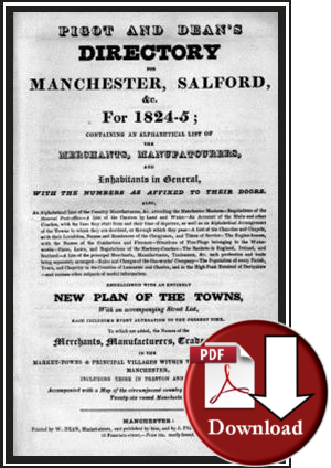 Pigot & Dean's Directory for Manchester & Salford & c for 1824-25 (Digita - Download)