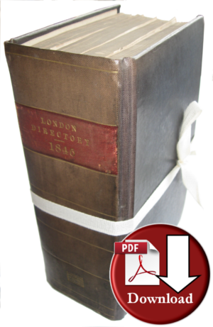 Post Office London Directory 1845 (Digital Download)
