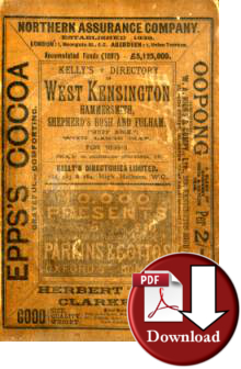 Kelly�s Directory of  West Kensington, Hammersmith, Shepherd's Bush & Fulham, 1898-9 (Digital - Download)