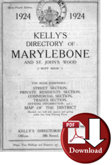 Kelly�s Directory of Marylebone & St. John's Wood, 1924 (Digital - Download)