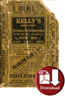 Kelly's Directory of Stoke Newington, Stamford Hill &c 1926 (Digital - Download)