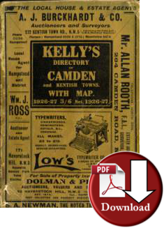 Kelly�s Directory of Camden & Kentish Towns, 1926-27 (Digital - Download)