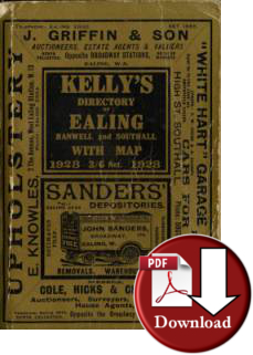 Kelly�s Directory of Ealing, Hanwell and Southall, 1928 (Digital - Download)