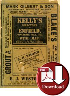 Kelly�s Directory of Enfield, Winchmore Hill etc, 1930 (Digital - Download)