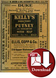 Kelly's Directory of Putney & Roehampton, 1932 (Digital - Download)