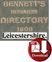 Bennett's Business Directory of Leicester 1908 (Digital - Download)