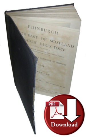Edinburgh & South - East of Scotland Trades Directory 1924  (Digital - Download)