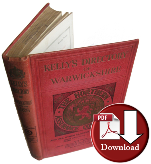 Kelly's 1928 Directory of Warwickshire (Digital - Download)