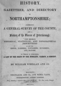 Whellan's Directory of Northamptonshire 1849