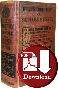 Kelly's Directory of Suffolk 1929 (Digital Download)
