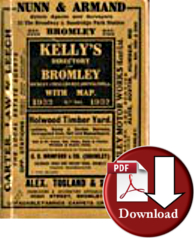 Kelly's Directory of Bromley, Bickley, Chislehurst, Orpinton &c 1932 (Digital Download)